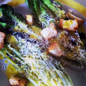 Grilled Caesar Salad with Homemade Croutons