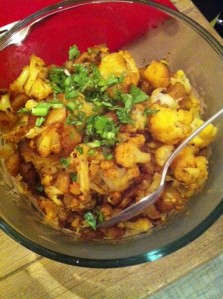 Oven Roasted Indian Potatoes and Cauliflower